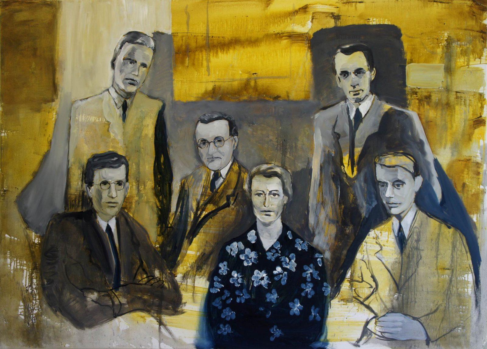 Portret van een onbekende familie, 2013, 130x180 cm