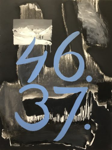 Mountain and numbers, 2018, 120x90 cm