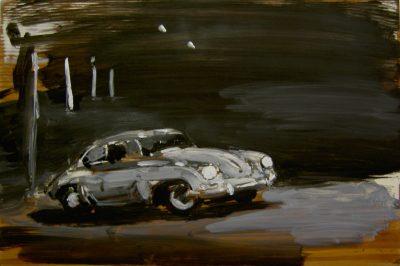 A Car in the night, 2004, 20x30 cm
